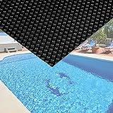 Wiltec Pool Solarfolie 4x6m schwarz Poolabdeckung Solarplane Poolheizung