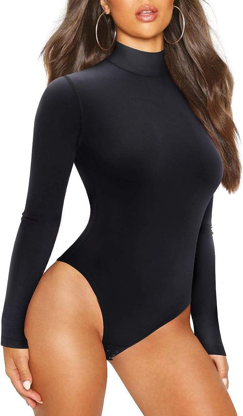 Irisnaya Shapewear Bodysuit Waist Trainer for Women Body Shaper Sexy Deep V Neck Jumpsuit Thong Tummy Control Tank Top