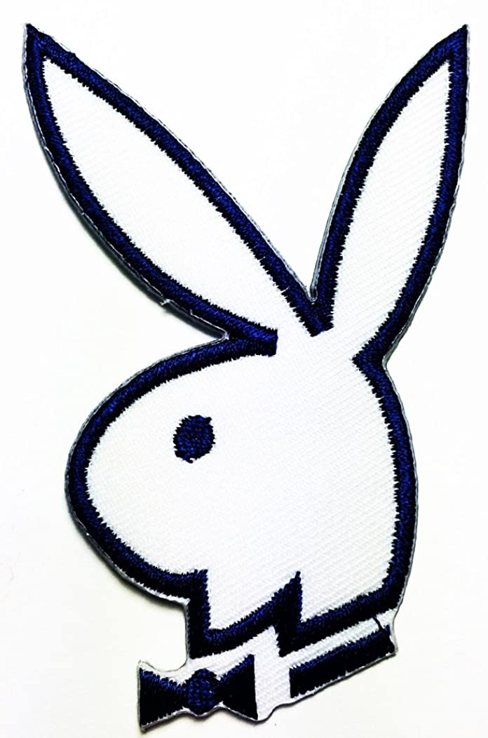 Playboy blue Bunny Rabbit logo patch Jacket T-shirt Sew Iron on Patch Badge Embroidery