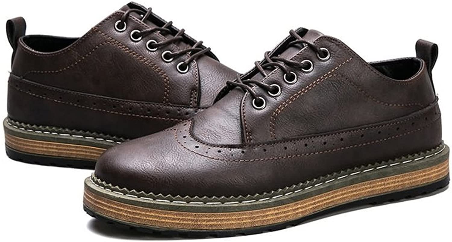 FeiNianJSh Men's Anti-Collision Round Head shoes Sport Casual shoes Oxford Low-top shoes Up to Size 44EU