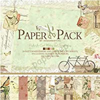 """Eno Greeting Pattern Paper Book 12"""" X 12"""" Afternoon"""