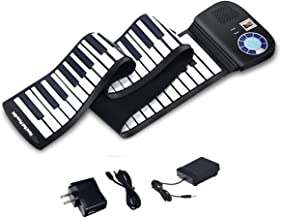 88 Keys Portable Keyboard Piano, Safeplus Electric Roll Up F