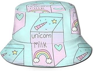 Unicorn Milkバケットハット ハット 帽子 紫外線対策 サファリハット カジュアル スポーツ メンズ レディース プレゼント UVカット つば広 おしゃれ 可愛い 日よけ 夏季 小顔効果 新型