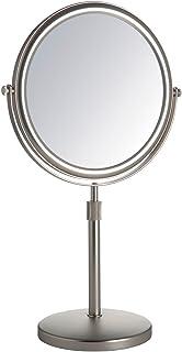 Jerdon JP4045N 5X Table Top Mirror, Nickel