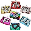 LovesTown Sequin Coin Purses,6 Pcs Reversible Magic Sequins Mini Wallets for Girl Diva Party Favors from LOVESTOWN
