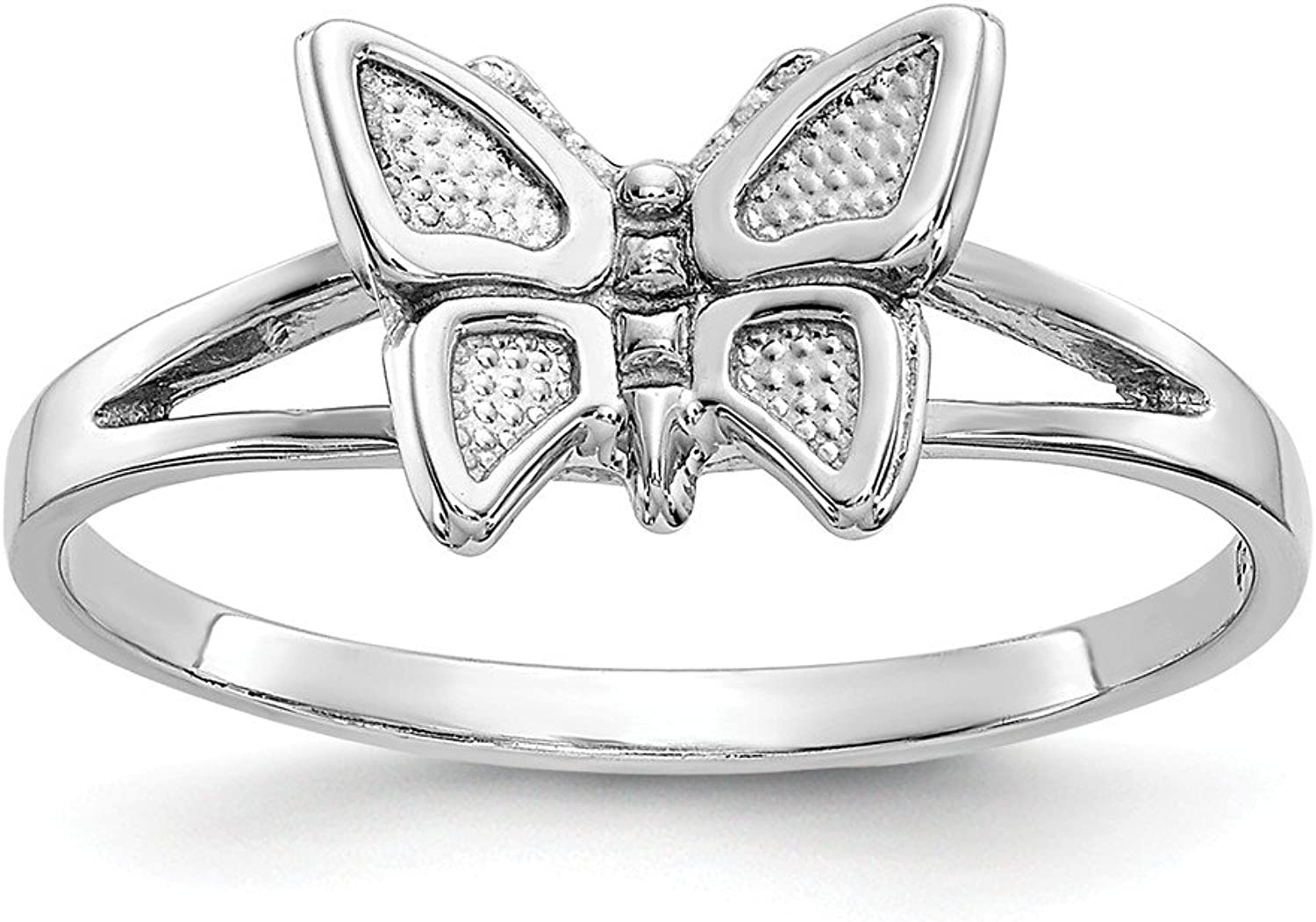 Beautiful White gold 10K 10k White gold BUTTERFLY RING