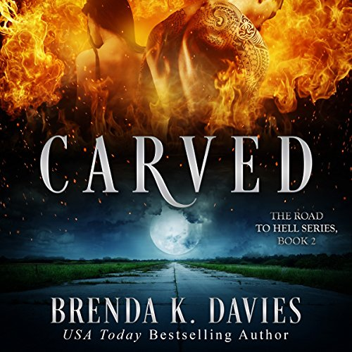 Carved audiobook cover art