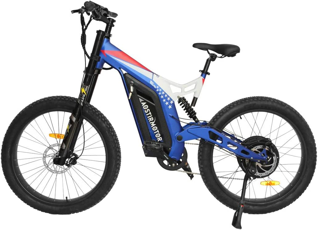 Aostirmotor Electric Mountain 5 ☆ very popular Bike Max 90% OFF with 1500w Motor48V 20AH Rem