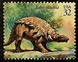 Edmontonia Dinosaur USA -Handmade Framed Postage Stamp Art 14493AM