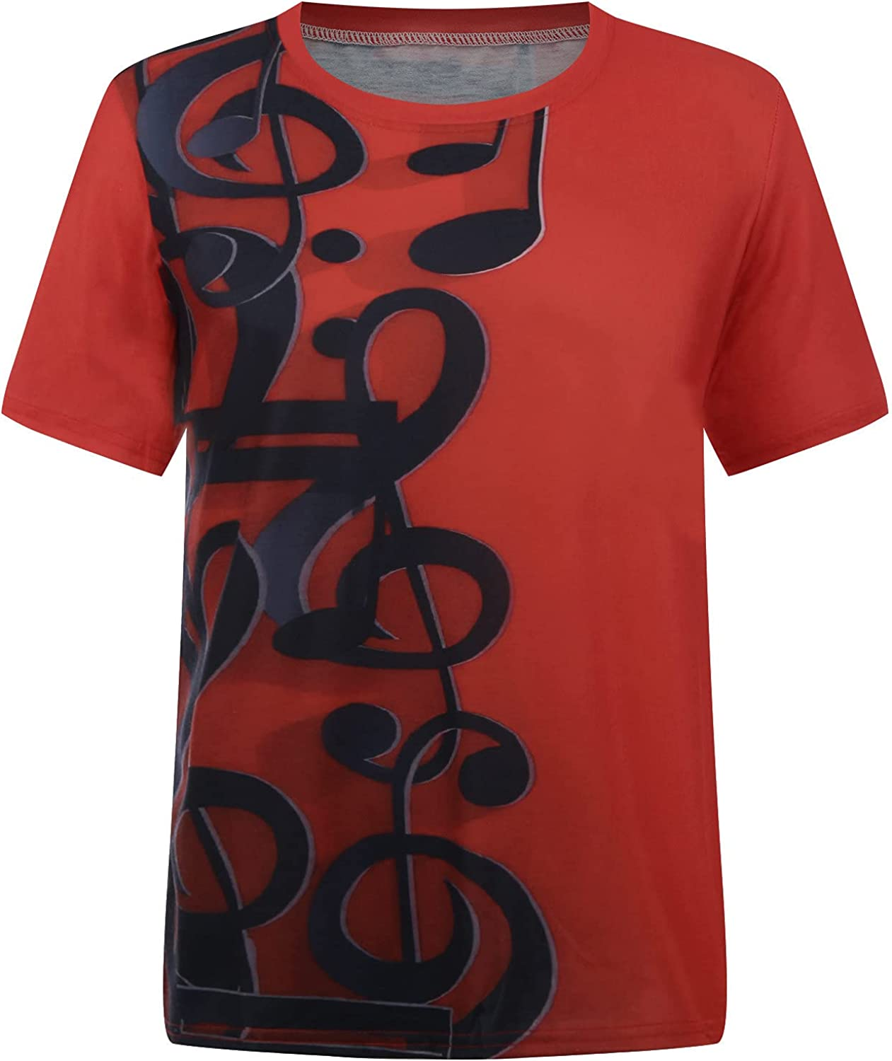 Mens Graphic Tee, Summer Plus Size Casual 3D Graphic Novelty Printed Crew Neck Short Sleeve T-Shirts Tops