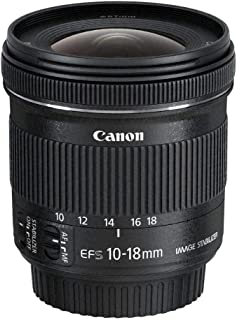 Canon EF-S 10-18mm f/4.5-5.6 IS STM Lens, Black, 9519B005AA