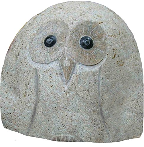 Stone Age Creations AN-OW-08 Decorative Stone Owl, 8-Inch