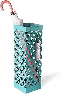 Liheya Umbrella Stand Rack Metal Umbrella Holder for Canes, Walking Sticks, Alpenstocks, Baseball Bats Home and Office Décor (Blue)