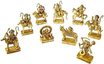 NavGraha Idols in Brass / 9 Planet Statues / Hindu Religion God Sculpture