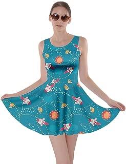 Womens Rick Morty Meeseeks Destroy Mooncake Final Space Mrs Frizzle Space Skater Dress, XS-5XL