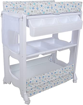 Multifunction Plastic Nursing Desk Baby Touch Massage Bed Shower Stand Finishing Table Baby Changing Table Suitable for 0 2 Years Old Baby Comfortable  Color