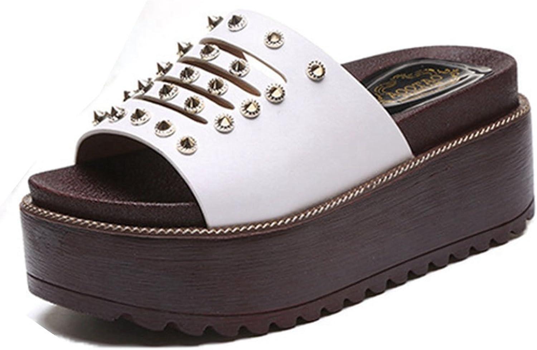 GIY Women's Open Toe Slides Anti-Slip Summer Slip on Platform Footbed Wedge Sandals