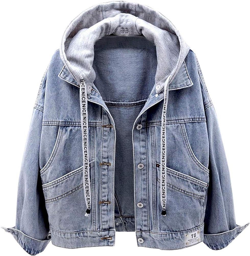 Kedera Women's Detachable Hoodie Denim Jackets Jean Coats