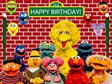 Sesame Street Backdrop | Brick Wall Background | 1st Birthday | Party Supplies | Banner | Girl | Boy | Photography