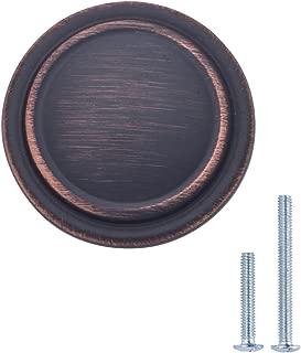 "AmazonBasics AB700-OR-10 Cabinet Knob, 1.25"" Diameter, Oil Rubbed Bronze"