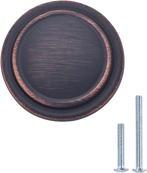 AmazonBasics AB700 OR 10 Cabinet Knob 1 25 Diameter Oil Rubbed Bronze