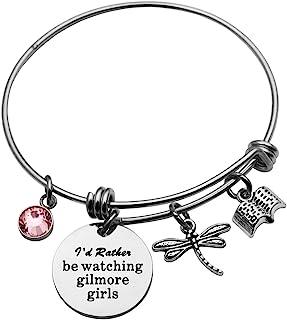 Eilygen Gilmore Girls Jewelry I'd Rather Be Watching Gilmore Girls Bracelet Bangle Gilmore Girls Inspired Gift Sister Gift