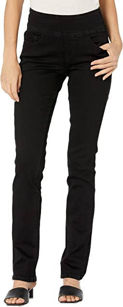 Peri Pull-On Straight Jeans in Butter Denim