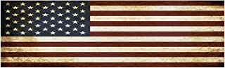 10x3 Patriotic Bumper Sticker Auto Decal Conservative Republican USA Flag American Patriot (Rustic)