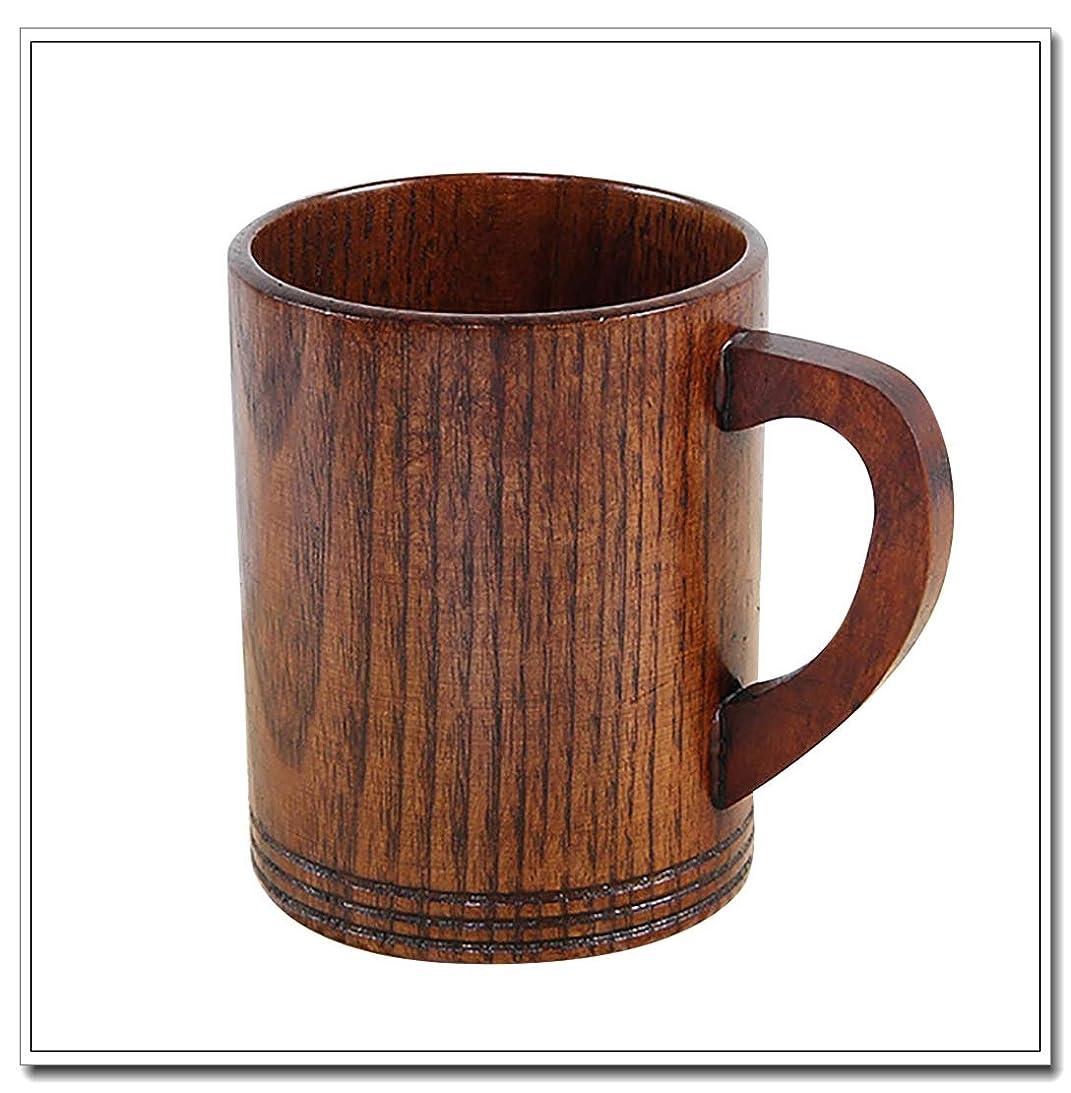 汗強度ペフ慶氏会社 日本式 手作り 天然木 マグカップ 木製 お酒 コーヒー 水 飲料カップ (ブラウン, 9)