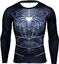 Jack Cordee Men's Long Sleeve Spider Hero 3D Print Compression Shirt