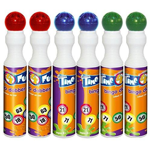 Bingo-Stifte, 43ml, Packungen mit 6, 12 oder 60Stück erhältlich (rot, grün, blau)