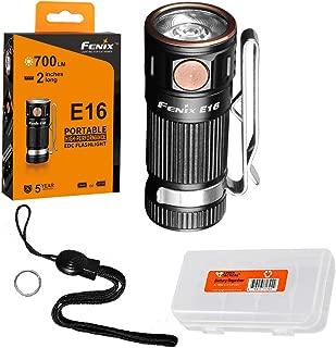 Fenix E16 700 Lumen High Performance EDC Keychain Flashlight with LumenTac Battery Organizer