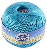 DMC Petra de Hilo, 100% algodón, Azul, tamaño 5