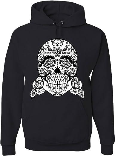 Sugar Skull Hoodie loyauté intégrité dévotion honneur