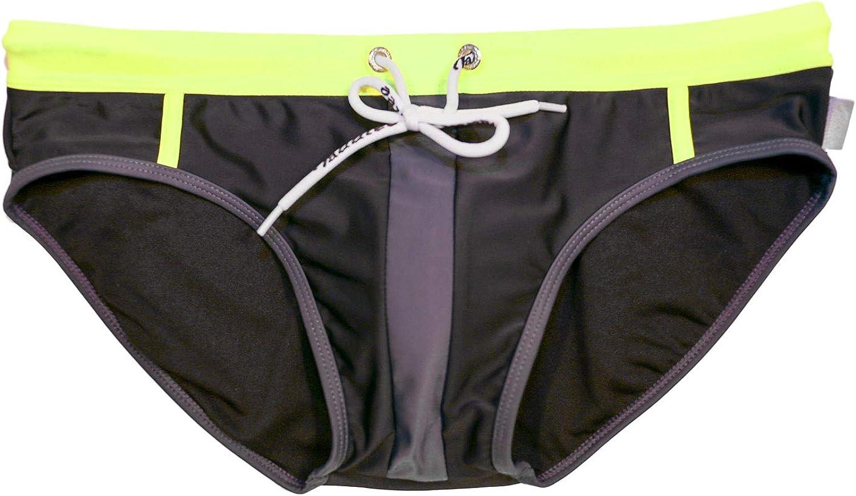 Taddlee Swimwear Men Swimsuits Sexy Swim Briefs Bikini Boxer Trunks Pad Insert Black
