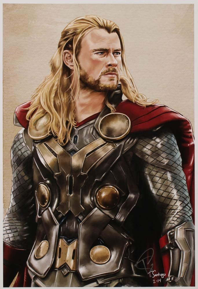 Tony Santiago Illustrator - Thor L Jacksonville Mall Avengers Signed The Factory outlet 13x19