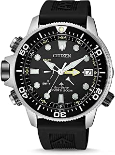 CITIZEN Mens Solar Powered Watch, Analog Display and PU Strap - BN2036-14E