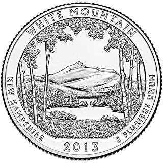 2013 P,D,S BU White Mountain New Hampshire National Forest NP Quarter Choice Uncirculated US Mint 3 Coin Set