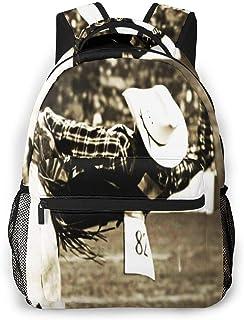 Mochila Tipo Casual Mochila Escolares Mochilas Estilo Impermeable para Viaje de Ordenador Portátil hasta 14 Pulgadas Paseo Rodeo Bull Rider