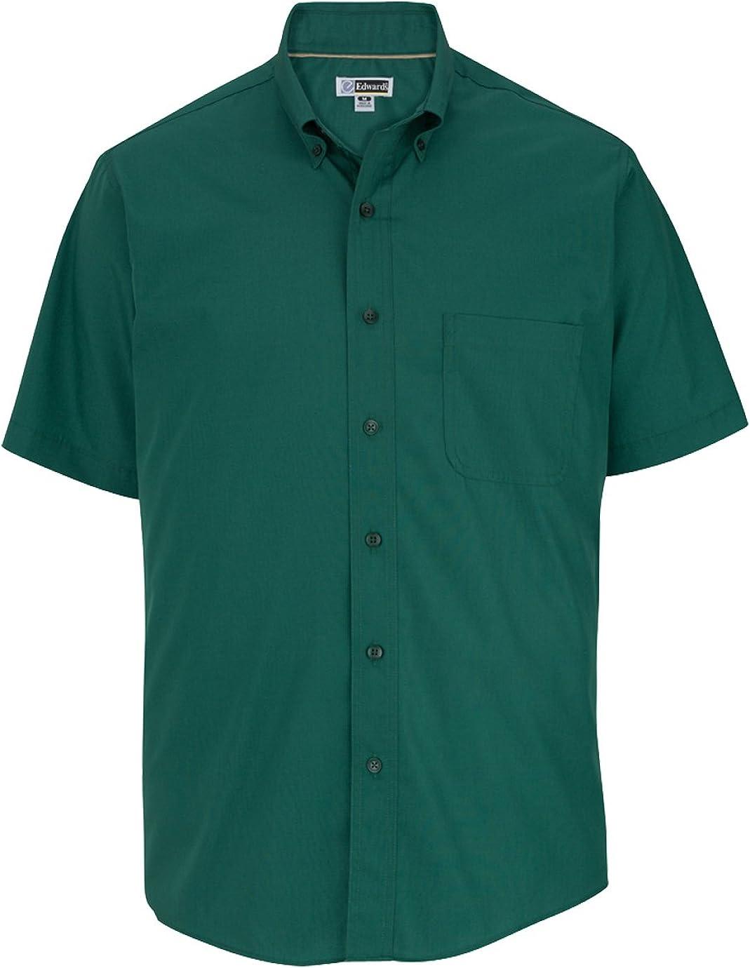 Edwards Garment Men's Big And Tall Wrinkle Resistant Poplin Shirt_HUNTER_5XLT