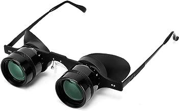 Professional Hands-Free Binocular Glasses for Fishing, Bird Watching, Sports, Concerts, Theater, Opera, TV, Sight Seeing, Hands-Free Opera Glasses for Adults Kids (Green Film Optics)-Upgraded