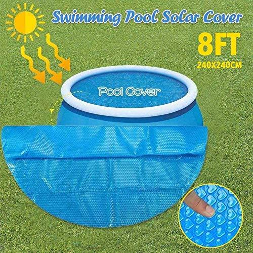 Surfilter Runde Poolabdeckung 240 cm Runde runde Poolabdeckung für oberirdischen runden Pool - Isotherme Schwimmbeckenabdeckung - Blau