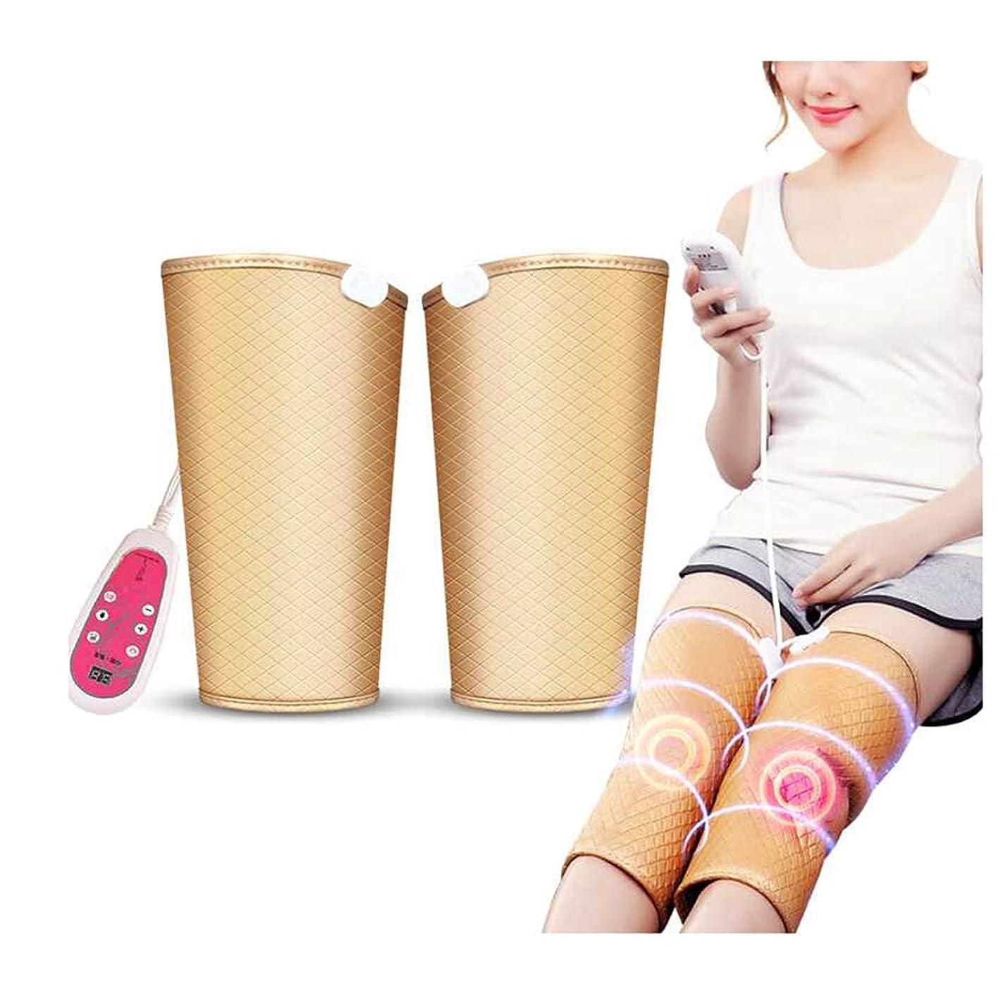 シニスルアー裁判官暖房膝サポート9マッサージモードと膝のけがのための5つの速度でラップ膝温めラップパッド療法マッサージャー