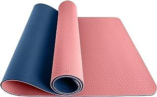 Yogamatta - TPE halkfria yogamattor av varm yogamatta med inriktningslinjer, gratis bärrem och väska Passar för inomhus oc...