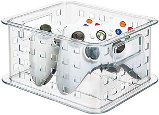 mDesign boîte rangement DVD empilable – range cd dvd aussi pour les jeux vidéo, Blu Ray, puzzles et blocs de construction...