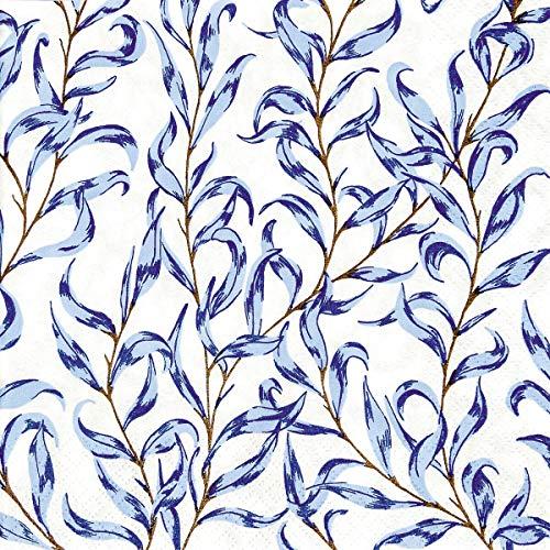 Home Fashion Lunch-Serviette, Azurblau, 33 x 33 cm, Mehrfarbig