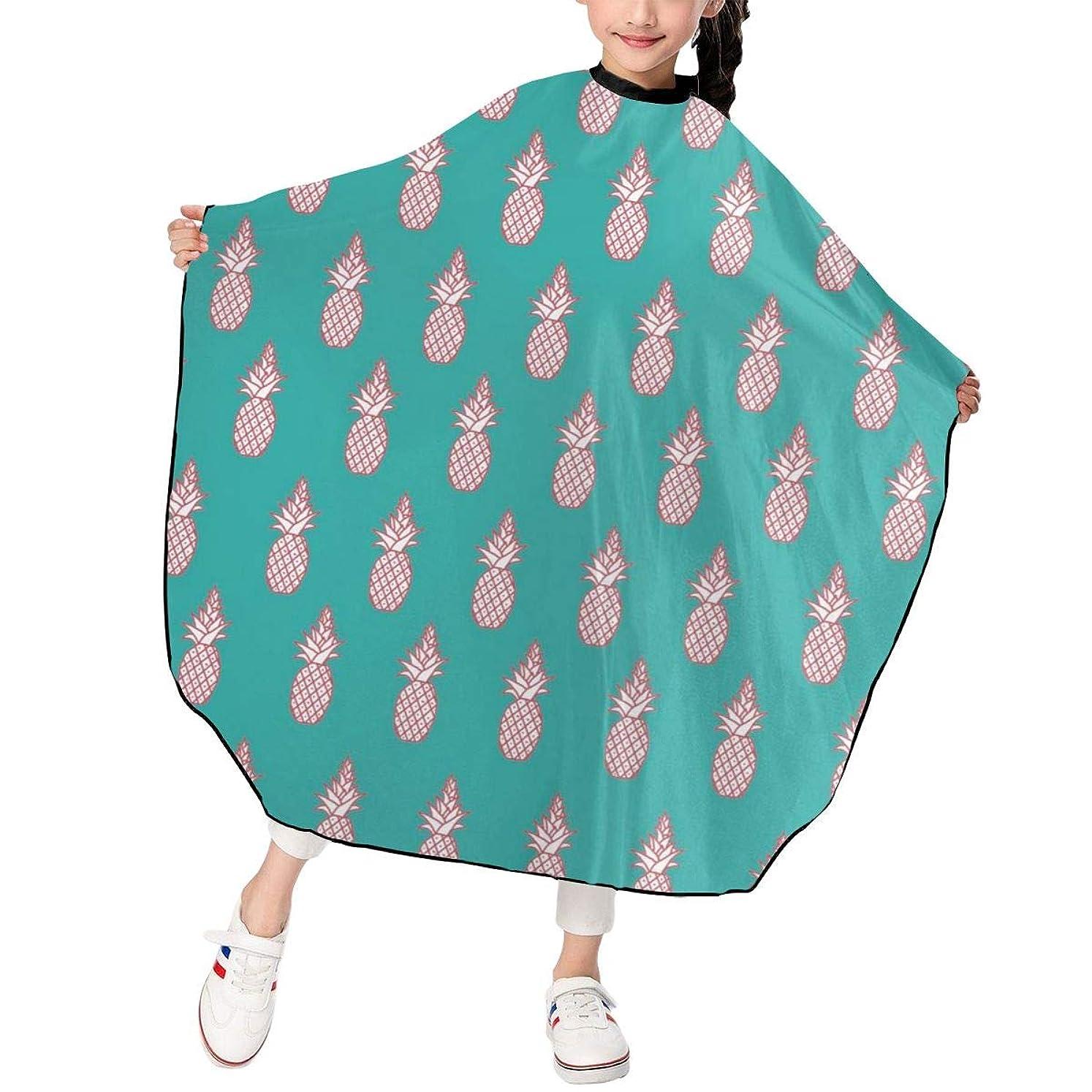 消える液化するたらいパイナップルパターン 散髪ケープ ヘアーエプロン 子供 サロン 家庭 美容院 理髪 操作やすい 散髪 撥水加工 静電気防止 柔らか 滑らか 上質 ファッション 男女兼用 ギフト