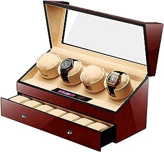 JHSHENGSHI - con cajón, Caja enrolladora automática para Reloj, Pantalla de Almacenamiento de Reloj, 5 Modos de rotación, Relojes para Hombre y Mujer para 11 Relojes
