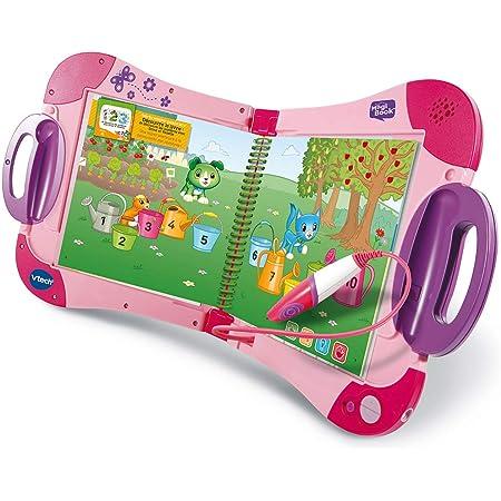 VTech - MagiBook Starter Pack Rose, Livre Interactif enfant – Version FR