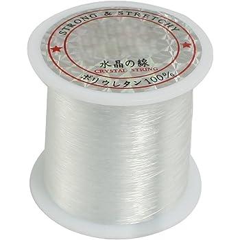 Vaorwne 0,2 mm Durchmesser Clear Nylon Fisch Angelschnur